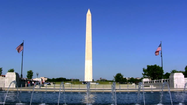 Washington Monument from WW2 War Memorial video