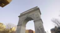 Washington Square Park establishing shot NYC video