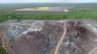 Waste steel plant and water reservoir with sewage video