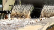 Waste water treatment plant. video