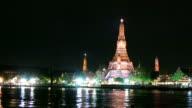 Wat Arun across Chao Phraya River video