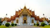 Wat Benchamabophit (Marble Temple) in Bangkok Thailand video