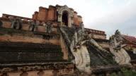 Wat Chedi Luang Stupa in Chiang Mai, Thailand video