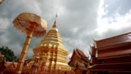 Wat Doi Suthep, Buddhist temple in Chiang Mai Thailand, This is the most popular temple near Chiang Mai. video