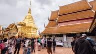 THAILAND ,CHIANG MAI Wat Doi Suthep timelapse video