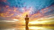Wat Khao Noi at sunrise, Nan Thailand video