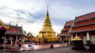 Wat phra that hariphunchai was a measure of the Lamphun province,Thailand. video