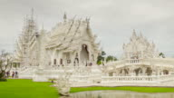 Wat Rong Khun temple timelapse video