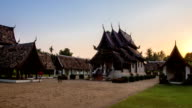 Wat Ton Kain, Old wooden temple in Chiang Mai Thailand. video