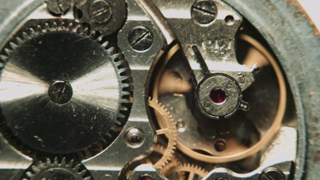 Watch mechanism macro video