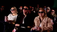 Watching 3D movie at cinema (DOLLY) video
