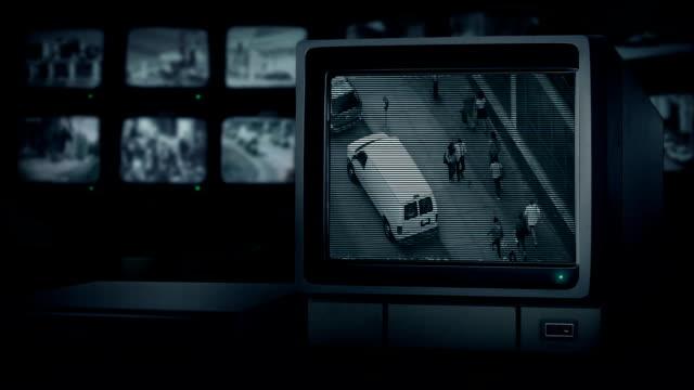CCTV TV Watching City Street video