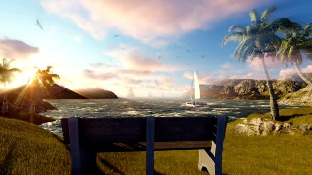 Watching Sunset At Sea On Beautiful Day video
