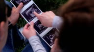 Watching the baby ultrasound picture video