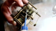 Watchmaker lubricates the engine hour video