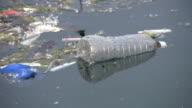 Water bottle waste. video