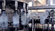 Water bottling plant video