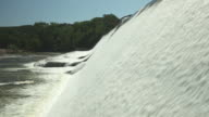 Water Cascading Over a Hydroelectric Power Dam video