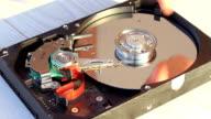 Water damaged hard disk drive video