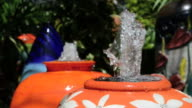 water decoration in the garden video