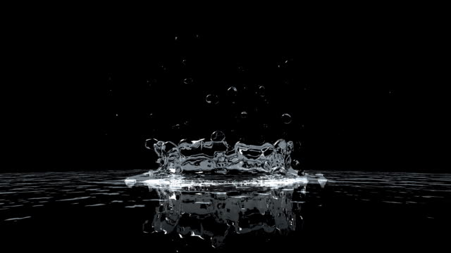Water Drops extreme slow motion video