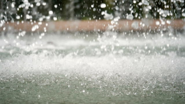 Water drops in fountain - slowmotion 180 fps video