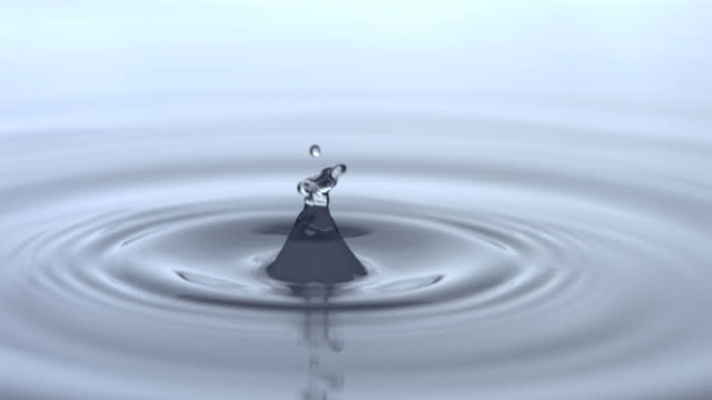 Water drops, slow motion video