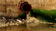 Water falling from drain tube video