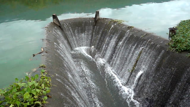 SLO MO Water falling from spillway video