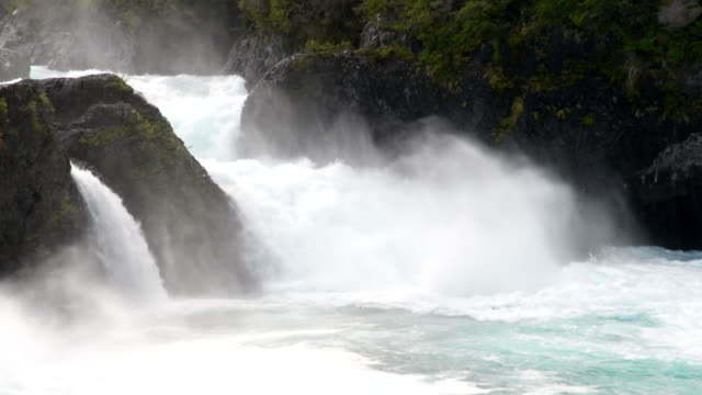 Water falls on Petrohue River video
