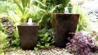 water feature in garden video