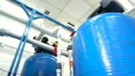 Water filters at the plant. video