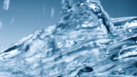 Water flow over frozen surface real video slow motion abstract background video