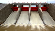 Water Flowing from Hydroelectric Power plant of dam video