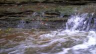 Water Flowing over rocks static shot beautiful video