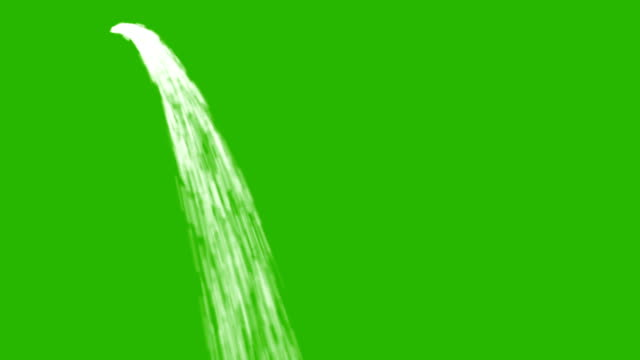 Water Flows in a Stream and Loop on a Green Screen Background video