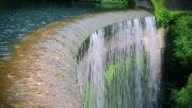 Water flows over old dam video