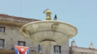 Water fountain and monument in Havana, Cuba video