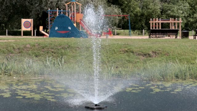 Water fountain at the children's playground video