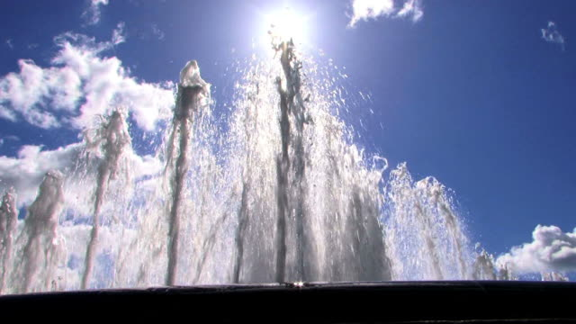Water fountains in summer video