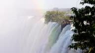 Water Going Over The Edge Of Victoria Falls video