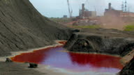 Water is polluted by industrial waste. video