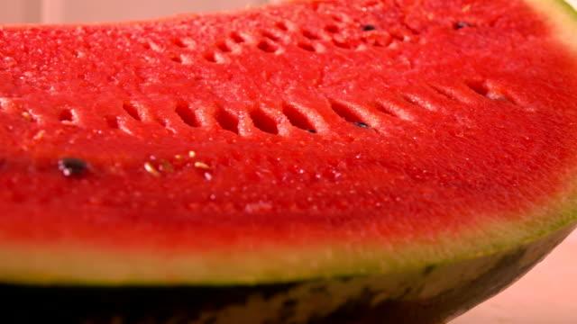 Water melon closeup FullHD pan shot video
