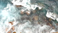 water on rocks video