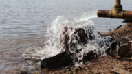 Water outflow pipe. video