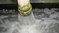 Water pipe in water field video