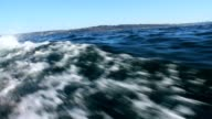 Water rushing past while sailing 1080p HD video
