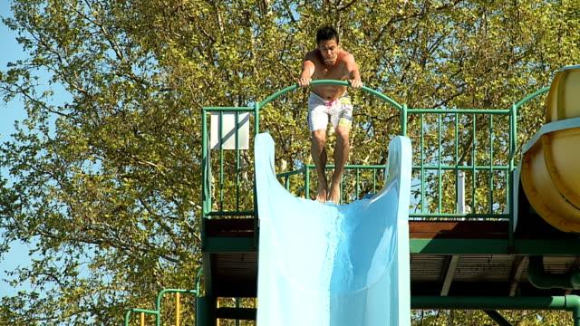HD SLOW MOTION: Water Slide Stunt video