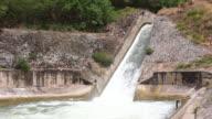 Water stream of dam video