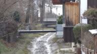 Water stream on street video